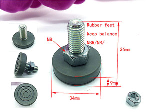 Rubber feet for washing machine