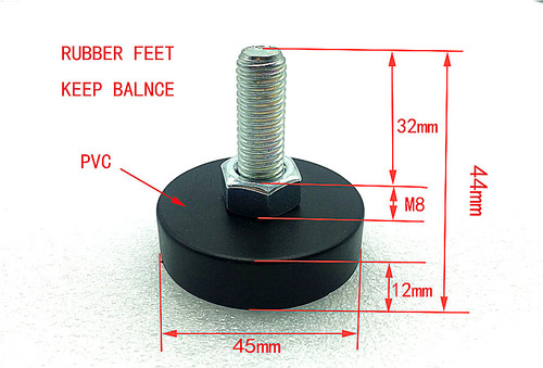 Rubber feets of screw with bolt for washing machine